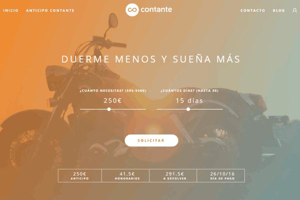 Contante mini créditos sitio web
