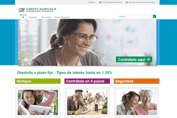 CA Consumer Finance sitio web