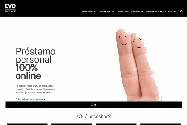EVO Finance préstamo sitio web